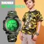 Детские наручные часы SKMEI 1548 Зелёный камуфляж