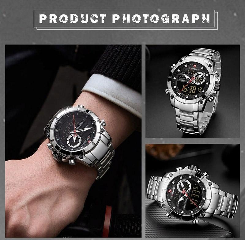 Наручные часы NAVIFORCE 9163 Серебристые Silver